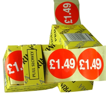 "10,000 x ""1.49"" Retail Self Adhesive Price Labels Stickers"