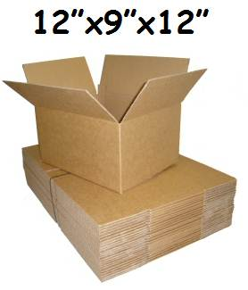 "10 x Single Wall Cardboard Postal Boxes 12""x9""x12"""