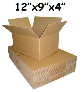 "500 x Single Wall Cardboard Postal Boxes 12""x9""x4"""