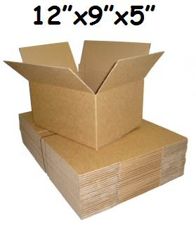 "200 x Single Wall Cardboard Postal Boxes 12""x9""x5"""