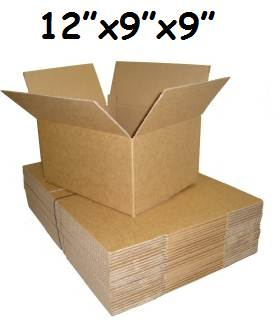"100 x Single Wall Cardboard Postal Boxes 12""x9""x9"""