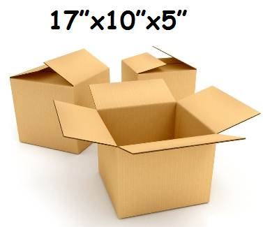 "50 x Single Wall Cardboard Packing Postal Boxes 17""x10""x5"""