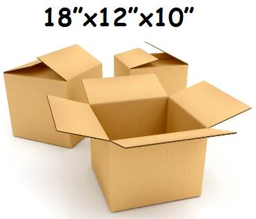 "100 x Single Wall Cardboard Packing Postal Boxes 18""x12""x10"""