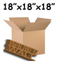"20 x Large Double Wall Storage Packing Removal Boxes 18""x18""x18"""