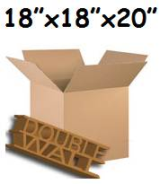 "200 x Large D/W Storage Stock Cartons Cardboard Boxes 18""x18""x20"