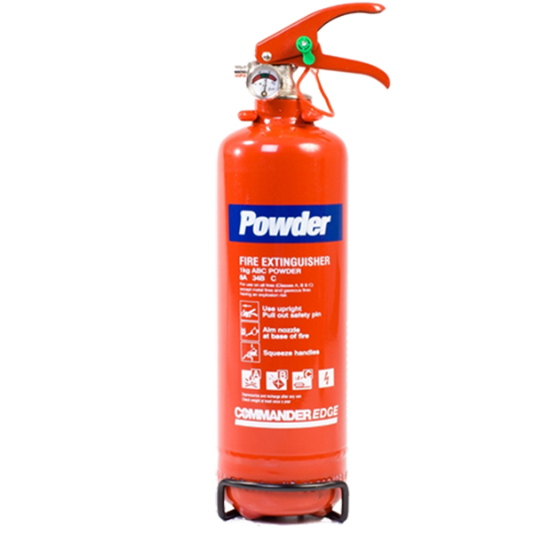 20 x 1kg ABC Dry Powder Fire Extinguishers With Brackets - For Home, Office, Vehicles Etc