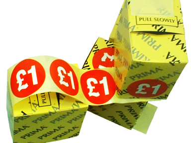 "2000 x ""£1"" Retail Self Adhesive Price Labels Stickers"