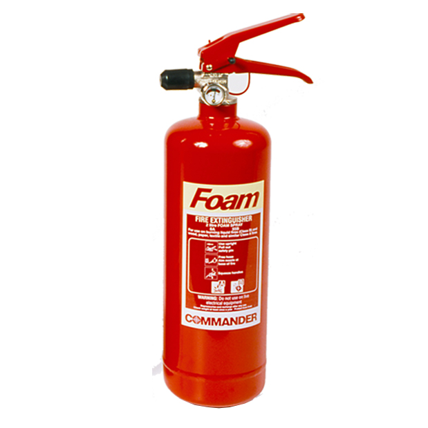 5 x 2 Litre (2L) Foam Fire Extinguishers With Brackets