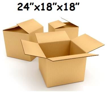 "200 x X-Large S/W Cardboard Packing Moving Boxes 24""x18""x18"""