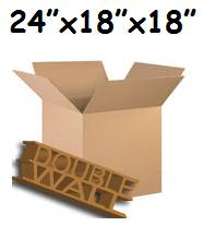 "10 x X-Large Double Storage Removal Cardboard Boxes 24""x18""x18"""