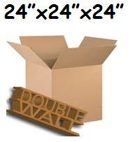 "5 x XX-Large D/W Storage Packing Cardboard Boxes 24""x24""x24"""