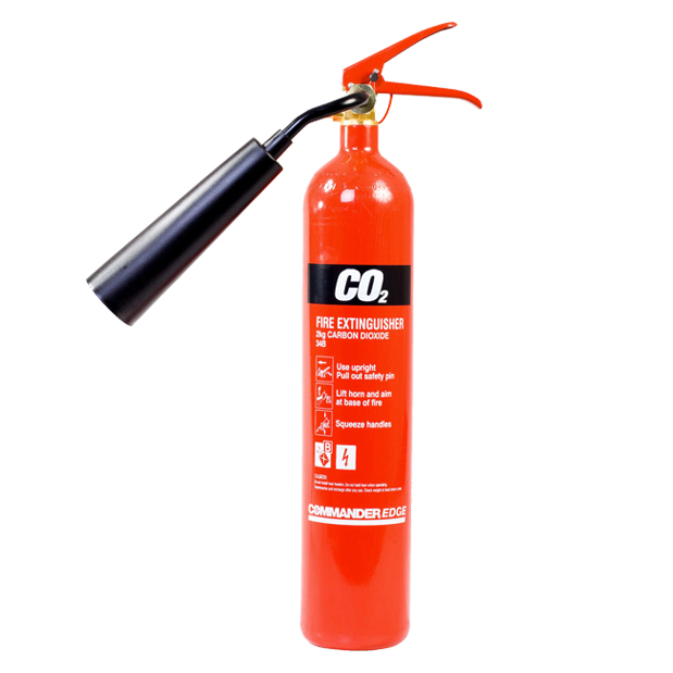 5 x 2kg CO2 Carbon Dioxide Fire Extinguishers With Brackets