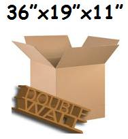 "5 x XXL D/W Packing TV Cardboard Cartons Boxes 36""x19""x11"""