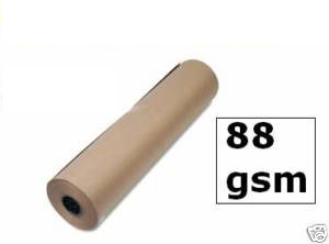500mm x 225M x 4 Strong Brown Pure Kraft Wrapping Paper Rolls