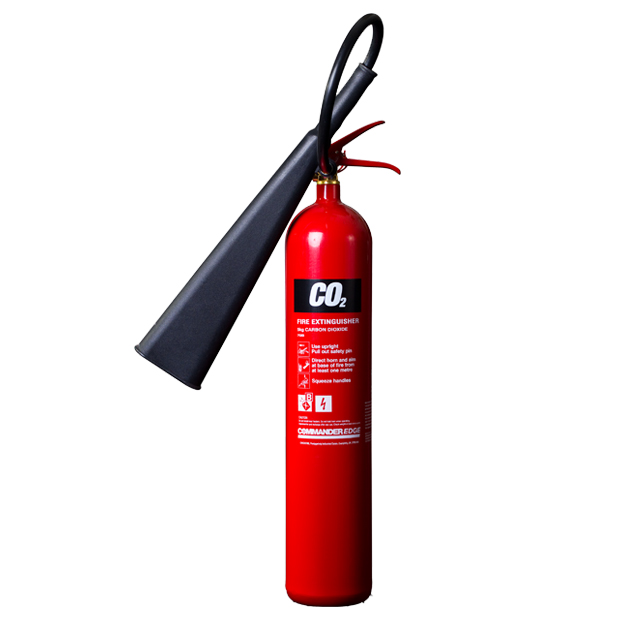 2 x 5kg CO2 Carbon Dioxide Fire Extinguishers With Brackets