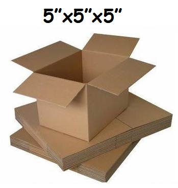 "1000 x Single Wall Cardboard Postal Mailing Boxes 5""x5""x5"""