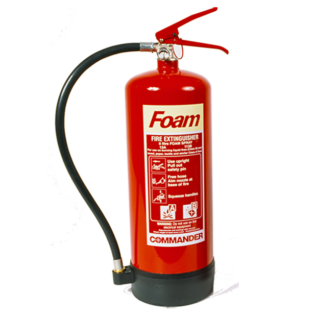 2 x 6 Litre (6L) Foam Fire Extinguishers With Brackets