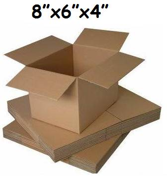"50 x Single Wall Cardboard Postal Mailing Boxes 8""x6""x4"""