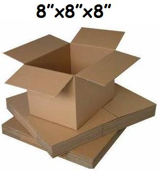 "100 x Single Wall Cardboard Postal Mailing Boxes 8""x8""x8"""