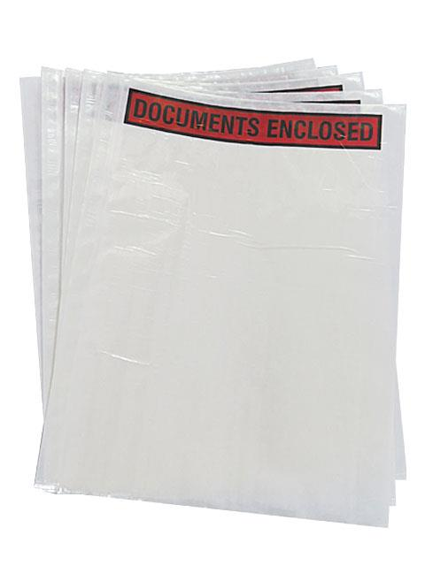 500 x A4 Printed Document Enclosed Wallets 230mm x 330mm