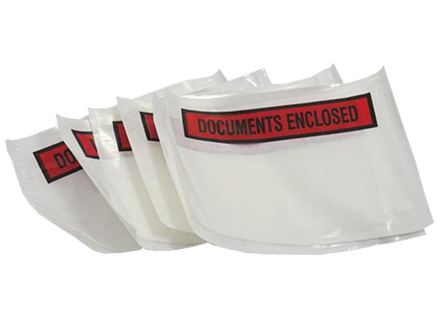 500 x A6 Printed Document Enclosed Wallets 110mm x 158mm
