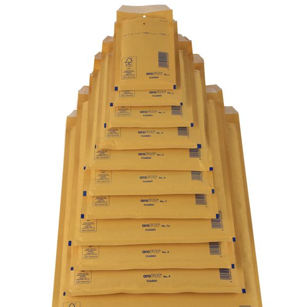 20 x AROFOL AR6 GOLD BUBBLE ENVELOPES PADDED BAGS 220x340mm F//3  *VALUE*