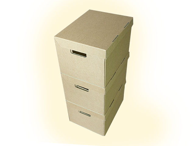 "20 x Strong A4 Archive Filing Storage Cardboard Boxes With Handles 15""x12""x9"""