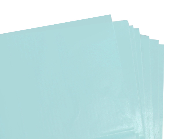 100 Sheets of Light Baby Blue Acid Free Tissue Paper 500mm x 750mm ,18gsm