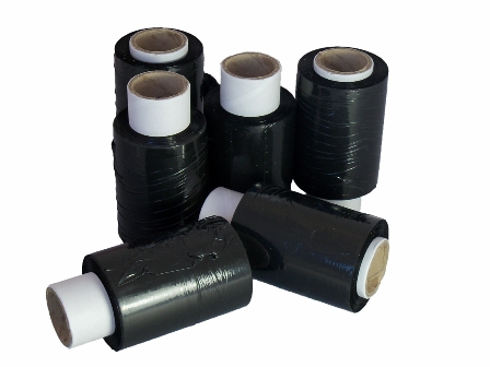 200 x Rolls of Black Handy Mini Pallet Stretch Shrink Wrap