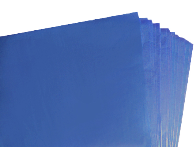 100 Sheets of Dark Royal Blue Acid Free Tissue Paper 500mm x 750mm ,18gsm