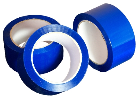 1 Roll of Blue Coloured Low Noise Packing Tape 50mm x 66m