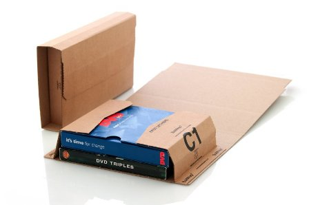 2000 x C1 Book Wrap (Bukwrap) Mailer Postal Boxes 216x154x55mm
