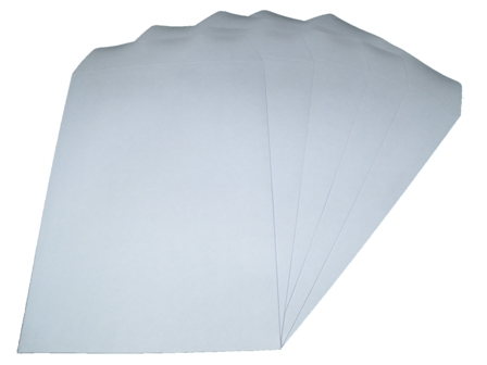 500 x C4/A4 White Plain Self Seal Envelopes 324x229mm , 90gsm