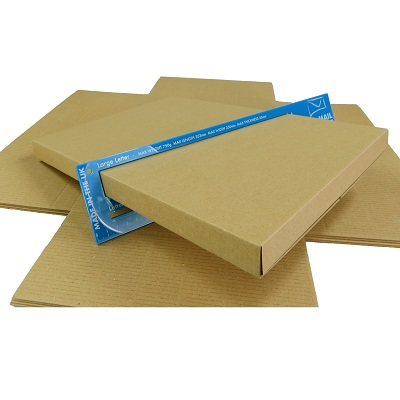 1000 x Brown PIP C4 Maltese Cross Max Large Letter Size Cardboard Boxes  349x249x24mm