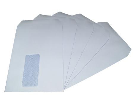 1000 x C5/A5 White Window Self Seal Envelopes 229x162mm , 90gsm