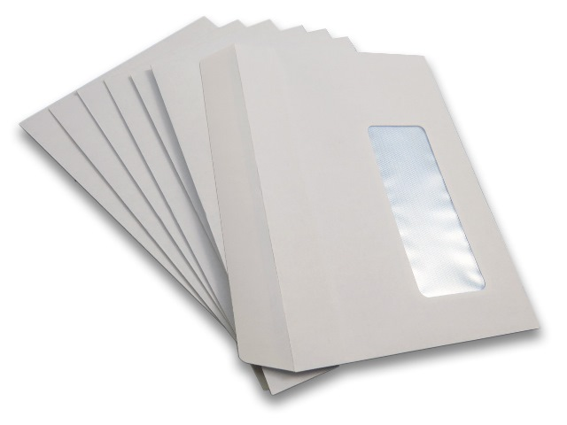 500 x C6 White Window Self Seal Envelopes 114x162mm , 80gsm