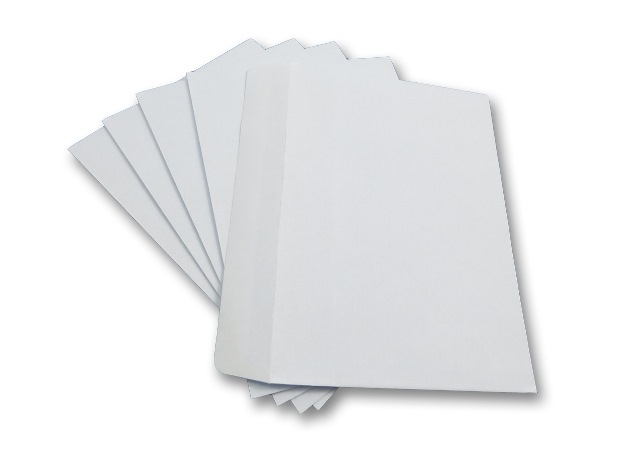 100 x C6 White Plain Self Seal Envelopes 114x162mm , 80gsm