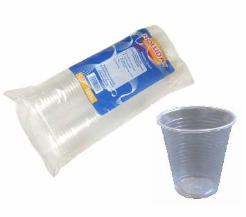 1000 x Clear Disposable Plastic Cups Glasses 7oz (190ml)