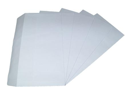 10 x DL White Plain Self Seal Envelopes 110x220mm , 80gsm