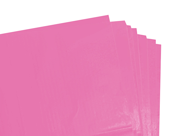 100 Sheets of Cerise Coloured Acid Free Tissue Paper 500mm x 750mm ,18gsm