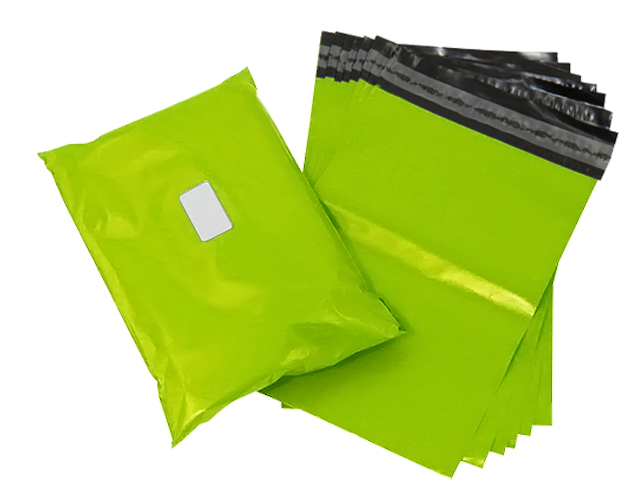 100 x Strong Lime Neon Green Postage Poly Mailing Bags 12