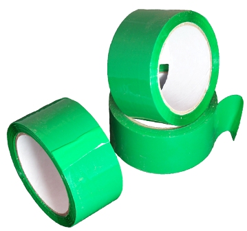 12 Rolls of Green Coloured Low Noise Packing Tape 50mm x 66m
