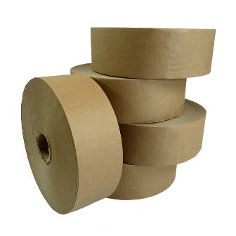 60 x Rolls of Plain Gummed Paper Water Activated Tape 48mm x 200M