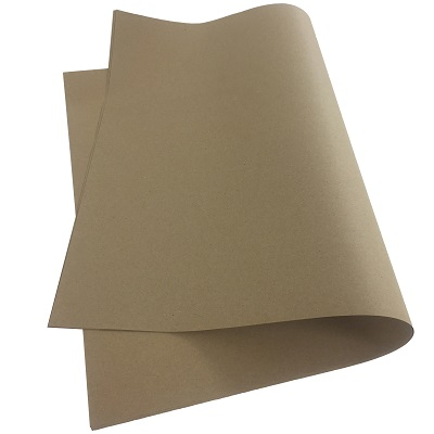 10 Sheets Of Recyclable Brown Kraft Wrapping Paper 500x750mm, 90gsm