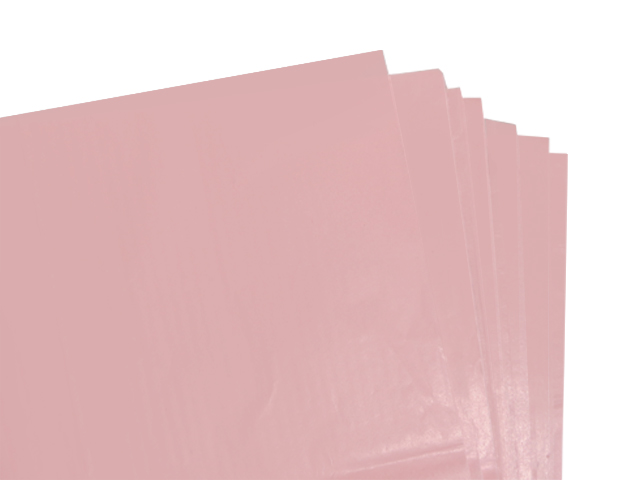 100 Sheets of Pale Pink Coloured Acid Free Tissue Paper 500mm x 750mm ,18gsm