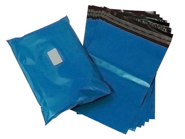 "200 x Strong Metallic Blue Postage Mailing Bags 17"" x 22"" - 430x560mm"