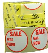 "500 x ""SALE - WAS & NOW"" Retail Self Adhesive Price Labels Stickers"