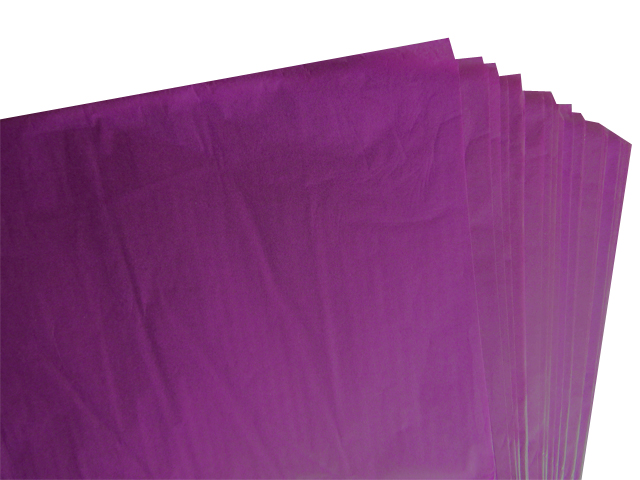 250 Sheets of Purple / Violet Coloured Acid Free Tissue Paper 500mm x 750mm ,18gsm