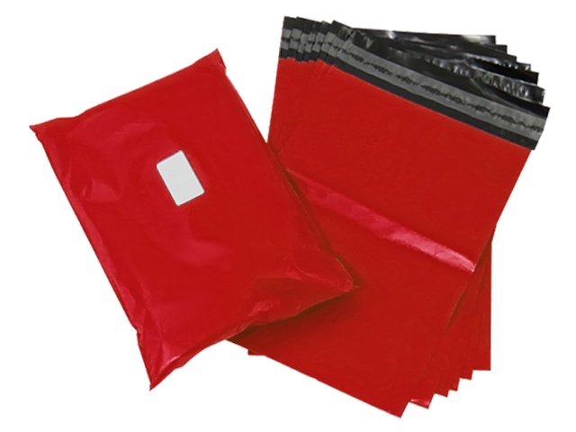 "200 x Strong Red Postage Poly Mailing Bags 6"" x 9"" - 165x230mm"