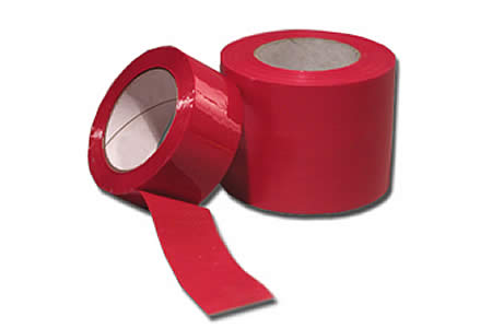 2 Rolls of Red Coloured Packing Tape 50mm x 66m 2""